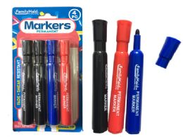 144 Units of Permanent Markers 4pc 3 Clr - Markers