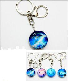 96 Units of Dolphin Glass Keychain - Key Chains