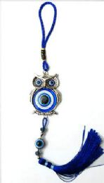 96 Units of Evil Eye Keychain Owl - Key Chains
