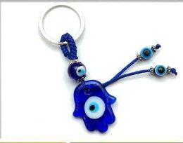 96 Units of Glass Evil Eye Keychain - Key Chains