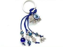 96 Units of Evil Eye Elephant Keychain - Key Chains