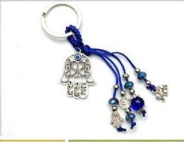 96 Units of Evil Eye Hand Keychain - Key Chains