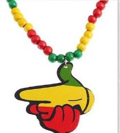 120 Units of Rasta Colors Handgun Shape Necklace - Necklace
