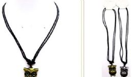 60 Units of Metal Owl Necklace - Necklace