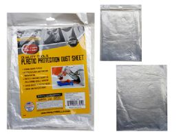 96 Units of Plastic Protection Dust Sheet - Cleaning Supplies