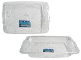 48 Units of Crystal-Like Serving Tray - Serving Trays