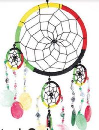 12 Units of 6inch Diameter Assorted Dream Catchers with Beads - Home Decor