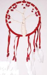 12 Units of Three of Life Feather and Yarn Dream Catchers - Home Decor