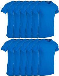 12 Units of Mens Royal Blue Cotton Crew Neck T Shirt Size Small - Mens T-Shirts