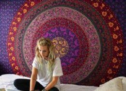 5 Units of Purple Mandala Bohemian Graphic Tapestry - Home Decor