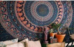 5 Units of Blue Mandala Bohemian Graphic Tapestry - Home Decor