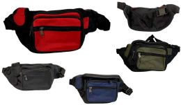 24 Units of Solid Color Fanny Pack - Fanny Pack