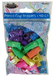 24 Units of 40 Pencil Caps - Erasers