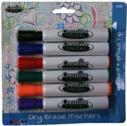 24 Units of Dry Erase Markers 6ct - Markers and Highlighters