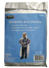 144 Units of Children Size Poncho - Umbrellas & Rain Gear