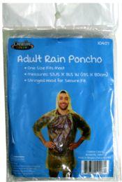 144 Units of Disposable Adult Size Poncho - Umbrellas & Rain Gear