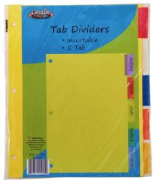 96 Units of Index Dividers 5 Tab - Dividers & Index Cards