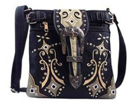 5 Units of Western Sling Purse With Buckle Black - Shoulder Bags & Messenger Bags