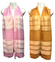 36 Units of Two Tone Silk Scarf Scarves - Womens Fashion Scarves