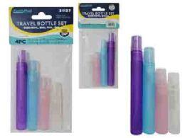 96 Units of Travel Bottle 4pc - Travel & Luggage Items