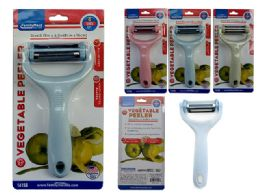 """96 Units of Vegetable Peeler 4 Sides 3.15""""X6.3""""H 3clr - Kitchen Gadgets & Tools"""