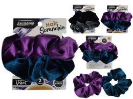 108 Units of Velvet Hair Ties - PonyTail Holders