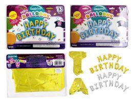 144 Units of Happy Birthday Letter Balloon - Balloons & Balloon Holder