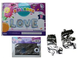 144 Units of Love Letter Balloons - Balloons & Balloon Holder