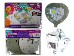 144 Units of 4pc Foil Balloons Just Married - Balloons & Balloon Holder