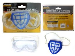 96 Units of Safety Goggle & Filter Mask - Hardware Miscellaneous