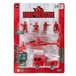 36 Units of Fireman Rescue Play Set - 8 Piece Set - Action Figures & Robots