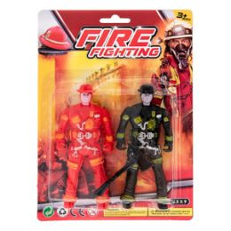 36 Units of Fire Fighting Play Set - 3 Piece Set - Action Figures & Robots
