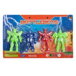 48 Units of Battlebots - 4 Piece Set - Action Figures & Robots