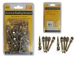 96 Units of 150g Screws And Sealing Washers - Drills and Bits