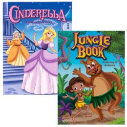 48 Units of Jungle Book and Cinderella Coloring Activity Book - Coloring & Activity Books
