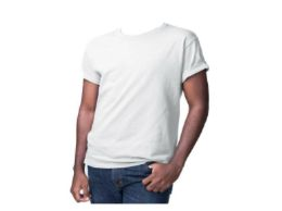 36 Units of DUMUK RING-SPUN COMBED COTTON 5 OZ T-SHIRT WHITE - Mens T-Shirts