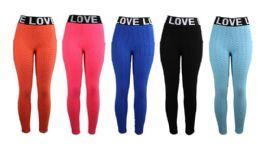 36 Units of Womens Bubble Capri With Love Waist - Womens Leggings
