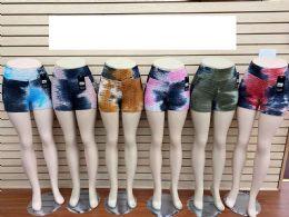 60 Units of Tie Dye color Bubble Shorts - Womens Shorts