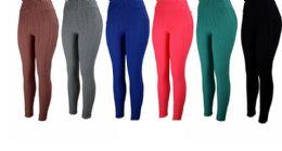 48 Units of Solid Color Bubble Legging - Womens Leggings