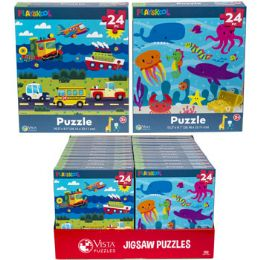 24 Units of Puzzle 24pc Playskool 2 Titles In Pdq Size 10.3x9.1 - Puzzles