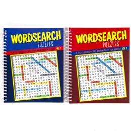 48 Units of Puzzle Book Find A Word Spiral 80 Pg 2 Asstd Counter Disp #7409 - Puzzles