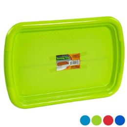 48 Units of Serving Tray Rectangular 15x10 4 Colors In Pdq - Serving Trays