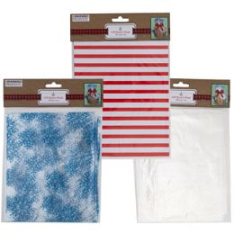 36 Units of Basket Bags Cello 2pk Christmas 22x25x8in W/ties Pbh On 12pc Csp - Party Supplies