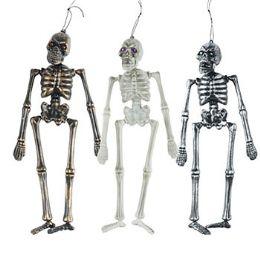 36 Units of Skeleton 16in 3asst Finish W/gem Eyes Blow Molded Hlwn ht - Halloween & Thanksgiving