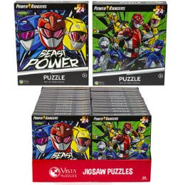 24 Units of Puzzle 24pc Power Rangers 2 Titles In Pdq Size 10.3x9.1 - Puzzles