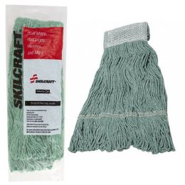 12 Units of Mop Head 24oz Green Skilcraft AntI-Microbial 7inch Head Band - Cleaning Supplies