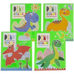 48 Units of Coloring Book Dinos In Color 4 Asstd Counter Dsiplay - Coloring & Activity Books