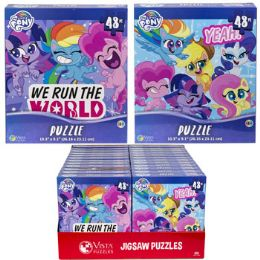 24 Units of Puzzle 48pc My Little Pony 2 Titles In Pdq Size 10.3x9.1 - Puzzles