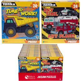 24 Units of Puzzle 24pc Tonka 2 Titles In Pdq Size 10.3x9.1 - Puzzles