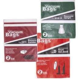 75 Units of Vacuum Bags 2pk Assorted Designed To Fit Royal Dirt Devil - Cleaning Supplies